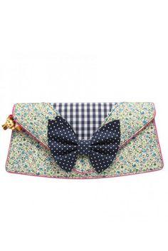 Irregular Choice blue lola clutch bag at Scarycanary Clothing