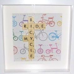 ridemybicycle  picture scrabble craft idea