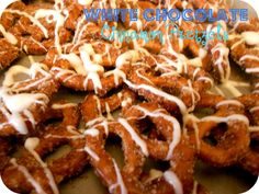 Six Sisters' Stuff: White Chocolate Cinnamon Sugar Pretzels Recipe  I'm not a cinnamon fan - but I think this would be a great little homemade gift for nursing home residents or a coworker or for an office party.