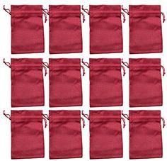 Baumwollbeutel rot Advent 30 x 20 cm 8 Baumwoll-S/äckchen