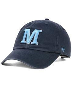 '47 Brand Maine Black Bears Ncaa Clean-Up Cap - Blue Adjustable