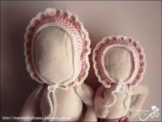 Ravelry: Edith Bonnet pattern by Myshelle Cole Crochet Girls, Crochet For Kids, Free Crochet, Knit Crochet, Crochet Hats, Baby Patterns, Doll Patterns, Sewing Patterns, Crochet Patterns