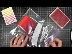 Ranger cut n dry felt pad to make rainbow ink pad