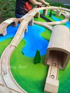 DIY Train Table - this paint job is doable