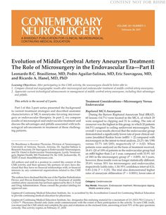Evolution of Middle Cerebral Artery Aneurysm Treatment: The... : Contemporary Neurosurgery