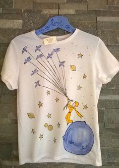 Maglietta dipinta Il Piccolo Principe Per info spedizione. Serena.elisa@libero.it