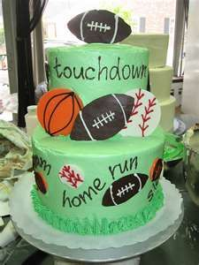 Tiered Sports Cake