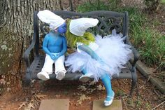 """Smurfy Inspired Tutu Costume Toddler up to 5T or Approximately 23"""" Chest Measurement for Costume, Plays, Dress-Up, Photo Prop. $70.00, via Etsy."""
