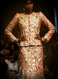 Amalia in Yves St Laurent Haute Couture                                                                                                                                                                                 More