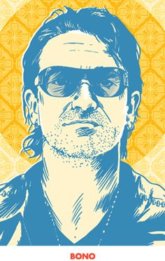 Bono Pop Art Print 13 x 19 by RedRobotCreative on Etsy U2 Poster, Bono U2, Thing 1, Hand Illustration, Rock Art, Music Artists, Illustrations Posters, Fine Art America, Sketches