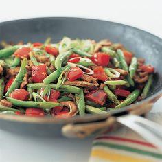 Spicy Stir-Fried Pork, Asparagus, and Onions with Lemon Grass