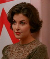 #Sherilyn Fenn as Audrey Horne in #TwinPeaks. I heart her style. I had my hair cut and coloured to look hers in the early 90s!