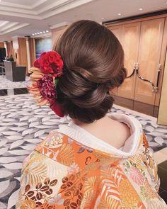 Kimono, Bridal, Japanese Hairstyles, Hair Styles, Wedding, Instagram, Fashion, Hair Plait Styles, Valentines Day Weddings