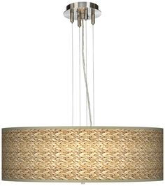 """Seagrass 24"""" Wide 4-Light Pendant Chandelier - LampsPlus.com  You also select the size for your lamp shade!!!!   Different shade!"""