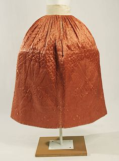 Petticoat  Date: 18th century Culture: French Medium: [no medium available] Dimensions: [no dimensions available] Credit Line: Gift of Mrs. DeWitt Clinton Cohen, 1937 Accession Number: C.I.37.35    Metropolitan Museum of Art