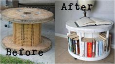 Repurposed Wire Spool Ideas