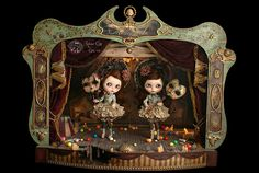 Representation in the Medianoche Theatre by Rebeca Cano ~ Cookie dolls, via Flickr