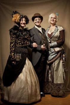 (L-R) Zoe Balfour, Ann Hageman, and Fräulein Michelle stand for a portrait during the annual Edwardian Ball at the Regency Ballroom in San Francisco, Calif. on Saturday, Jan. 21, 2012. Now in its twelfth year, the ball features a variety of themed theatre, music, circus, and dancing of the Edwardian era. Photo: Stephen Lam, Special To The Chronicle / SF