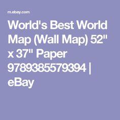 "World's Best World Map (Wall Map) 52"" x 37"" Paper 9789385579394 | eBay"