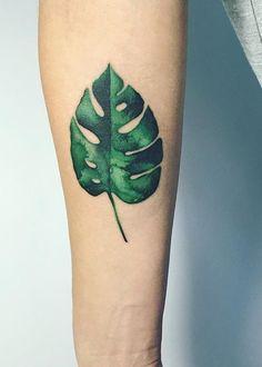 Masha Sgushonka monstera leaf tattoo