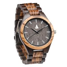 Tree Hut All Wood Watch | This Tree Hut all wooden watch is handmade in San Francisco from real zebrawood and ebony wood. Great gift idea for groomsmen!