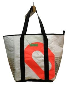 Awesome upcycled totes made from reclaimed sail cloth from Stelluca.com  Great stuff!