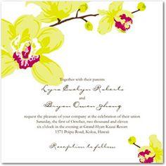 WeddingInvitationsJournal.com | Orchid Wedding Invitations Collection | http://www.weddinginvitationsjournal.com