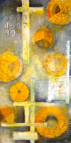 INSPIRATION:  abstract mix media piece WIP by Pam Carriker