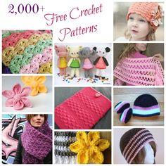 Over 2,000+ free crochet patterns #crochet #patterns :-)