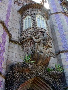 A most sinister gargoyle - National Palace of Pena, Sintra, Portugal