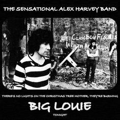SAHB - Burning Big Louie - Promo advert Alex Harvey, Scottish Bands, Close Shave, Breaking Bad, Rock Music, Label, Memories, Let It Be, Big