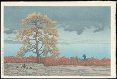 Hasui, Kawase (1883-1957) - Rain on Lake Matsue - 湖畔の雨(松江)