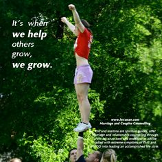 It´s when you we help others grow, we grow./ www.les-onze.com, Marriage and Couples Counselling
