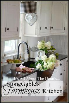 StoneGable: Tour this classic Farmhouse kitchen that is functional yet beautiful.