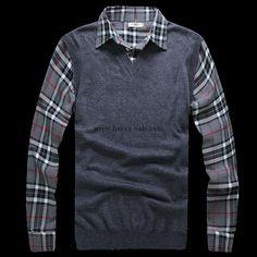 Burberry Deep Blue Cashmere Sweater 2014-2015 BS033DB