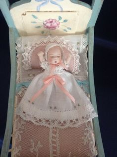 112 scale miniature porcelain doll by PilarCalleMiniatures on Etsy, €50.00