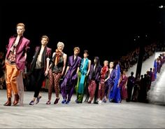 Haider Ackermann is everything. Poetry in jewel colored silk. (Images via Vogue.com)