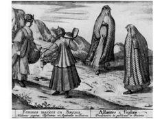 "Married women of Bayona. Braun & Hogenberg's ""Civitates Orbis Terrarum"" 1572-1617."