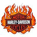 Harley Davidson ~ Bar And Shield Flames ~ Outside Sticker ~ Approx 5.5 x 6 Inches