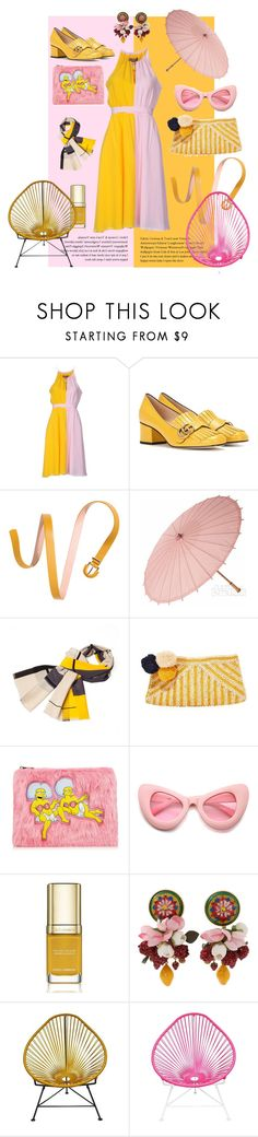 """Pink&Yellow is The best"" by laura-distefano ❤ liked on Polyvore featuring Space Style Concept, Gucci, H&M, Infinity, Mar y Sol, ZeroUV, Dolce&Gabbana, Innit, vintage and yellow"