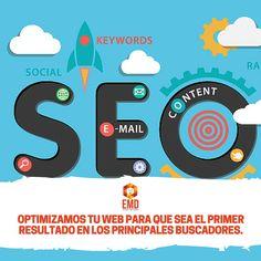 Recibe más visitas en tu sitio web mediante la optimización SEO. Somos expertos! #EMD #MarketingDigital #SEO