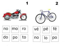 Des fiches en autonomie pour les CP, associer un mot à une image, des syllabes ensemble pour former des mots etc...