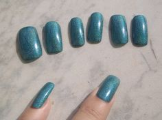Hey, I found this really awesome Etsy listing at https://www.etsy.com/il-en/listing/248164206/fake-nails-teal-holographic-green