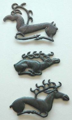Geyik süslemeleri/ Orta Yenisey bölgesi M.Ö 6.-3. Yüzyıllar Scythian stags