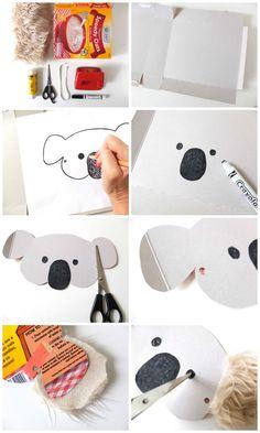 Máscara Koala Pasos DIY