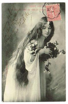1900s Art Nouveau Forest Nymph