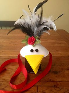 Hen headpiece | French Hen Chicken Costume Set by SeeSalSew on Etsy