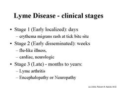 Lyme Disease | ... surprise in step 1 that all lyme disease is assumed to be from ticks.