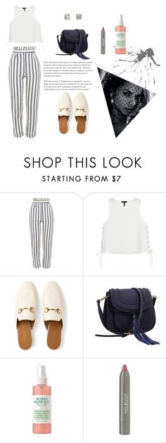 """""""Villa"""" by bellallee ❤ liked on Polyvore featuring Topshop, rag & bone, Gucci, MKF Collection and Juice Beauty"""