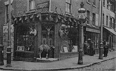 Shop front of ef spicer victorian style storefronts Victorian Era, Victorian Fashion, Dolls House Shop, Birmingham City Centre, Birmingham England, London History, Shop Fronts, Old London, Antique Photos